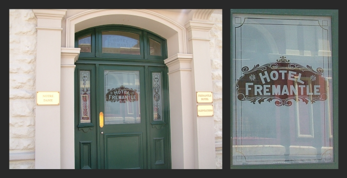 The Fremantle Hotel, entry doors