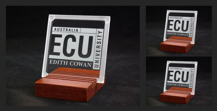 Glass Coasters - commissioned by Edith Cowan University