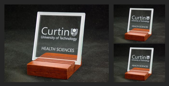 Glass Coasters - commissioned by Curtin University