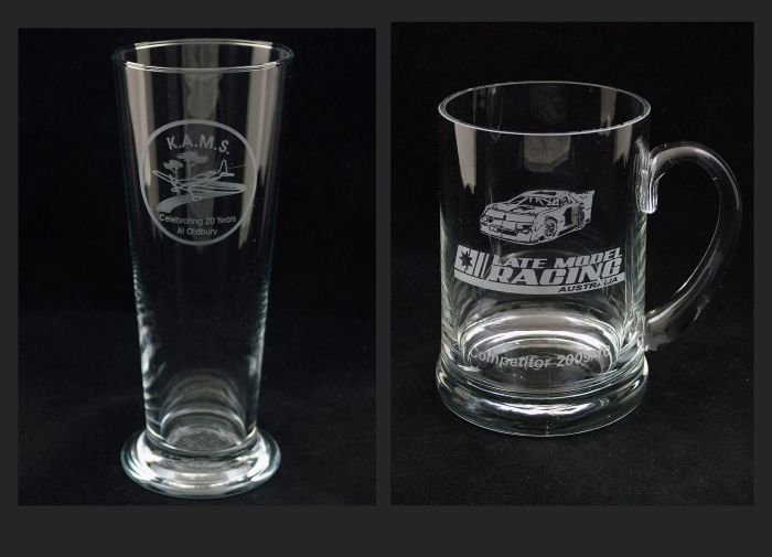 Beer Glass and Tankard. Commissioned for celebratory events