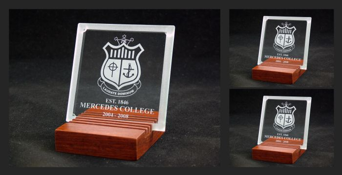 Glass Coasters - commissioned by Mercedes College